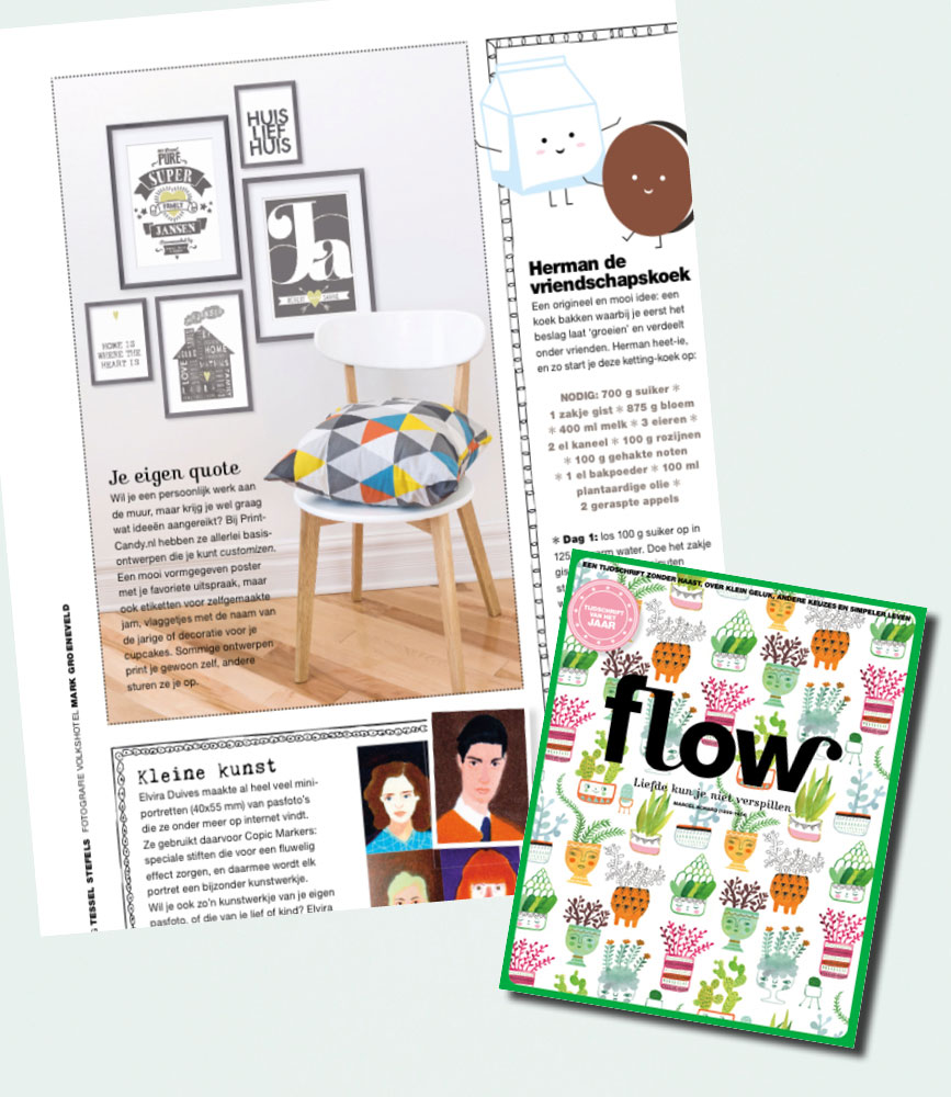 PrintCandy in de media gespot: Flow magazine