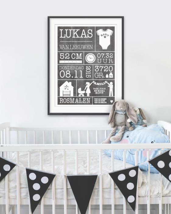zwart-wit-gepersonaliseerde-baby-geboorte-poster-zelf-online-maken-printcandy