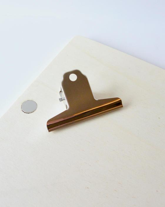 houten-klembord-magneet-klem