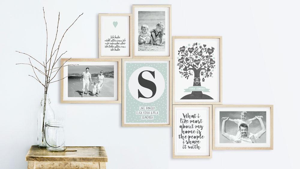 Gepersonaliseerde muur collage met Familie-Posters en foto's | Printcandy