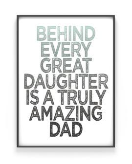Quote Poster met eigen tekst voor Vaderdag - Printcandy