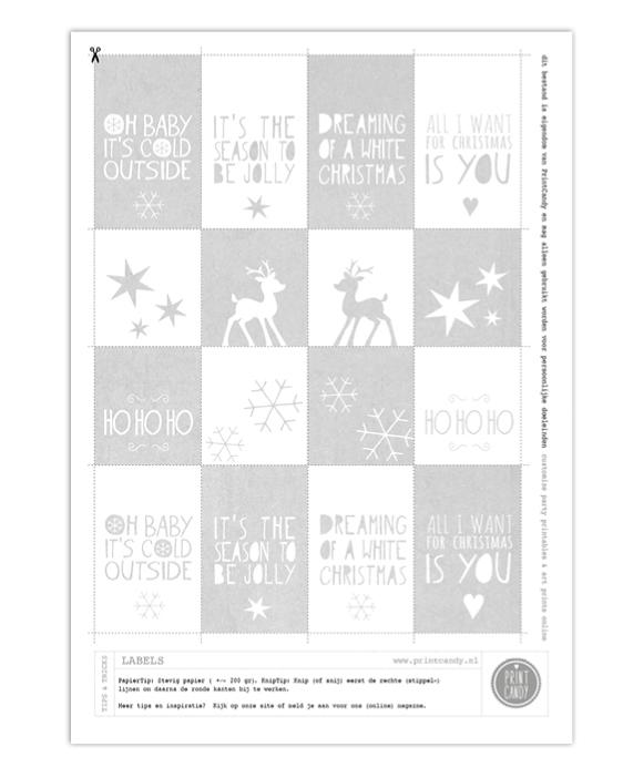 Uitgelezene Printable Kerst Labels PW-91