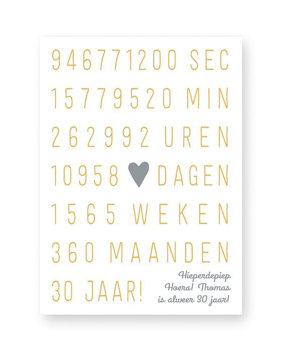 Huwelijk Jubileum Poster - Gepersonaliseerde poster met eigen tekst zelf maken bij Printcandy