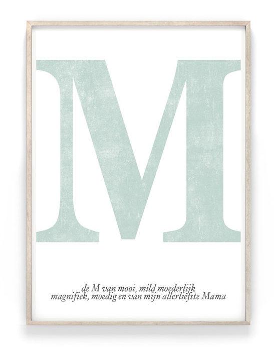Top 10 Mooiste Moederdag Cadeaus - Letter Poster met naam van Moeder of Mama - Printcandy