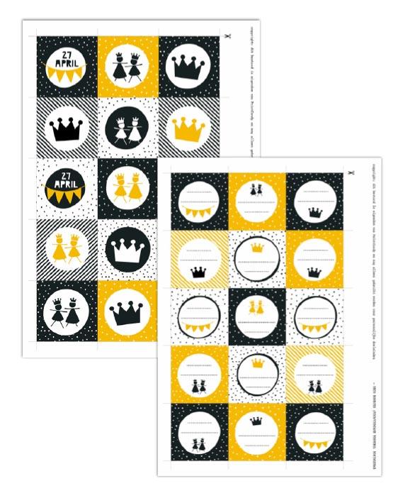 Gratis Printables Koningsdag - 27 april - Free printable - Printcandy