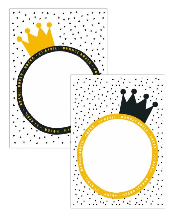 Gratis Koningsdag Poster Printables - 27 april - Free Printable Printcandy