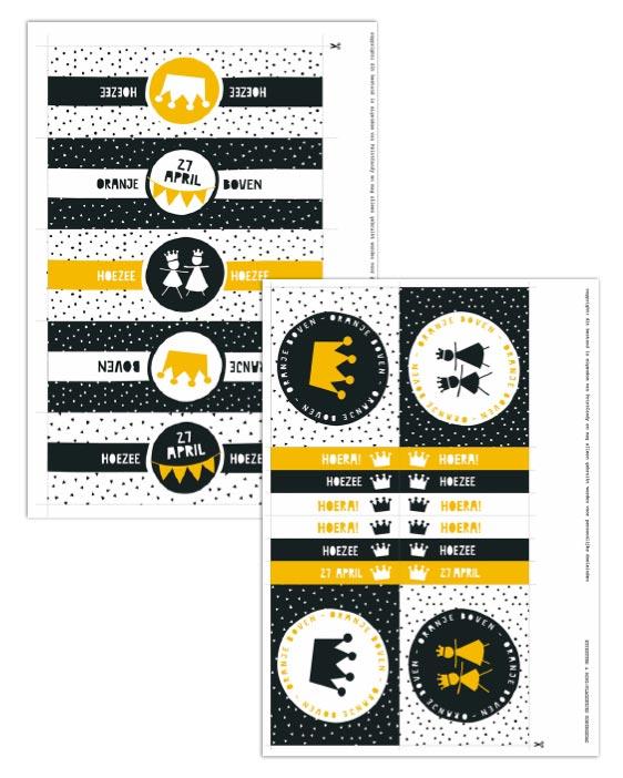 Gratis Koningsdag Printable - 27 april - Free printables Printcandy