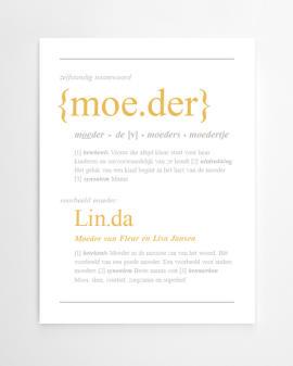 Gepersonaliseerde 'Dictionary-Print' poster met eigen naam