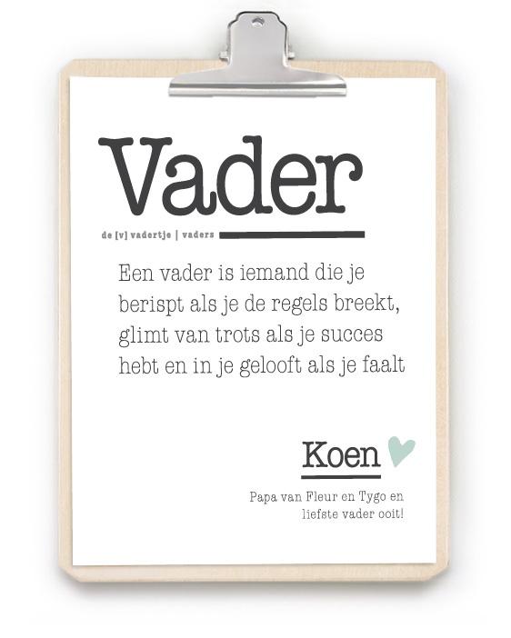 Gepersonaliseerde Woordenboek Poster met Klembord | Printcandy