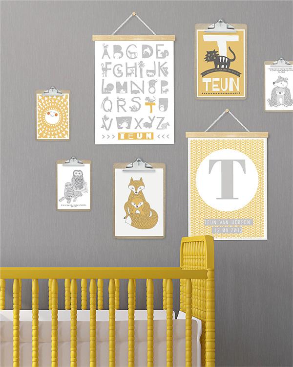 geel in je interieur - de trendkleur van dit moment - printcandy, Deco ideeën