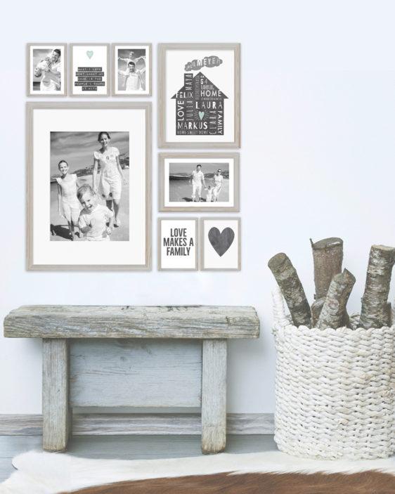 Home Sweet Home Poster -Gepersonaliseerde poster met eigen tekst zelf maken bij Printcandy