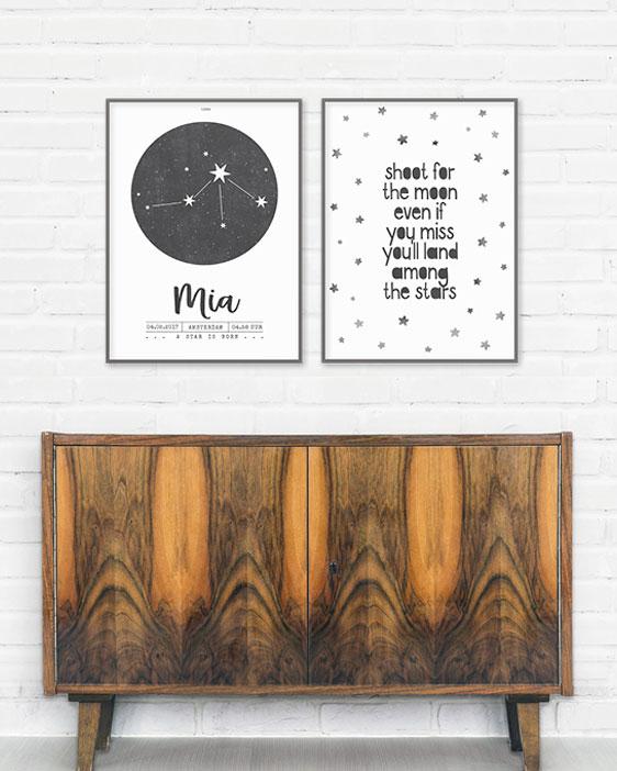 Schrijf je eigen quote ++ confetti poster met stippen ++ Zwart-wit poster met eigen tekst of favoriet citaat zelf maken bij Printcandy