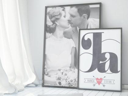 Collage met trouwfoto's