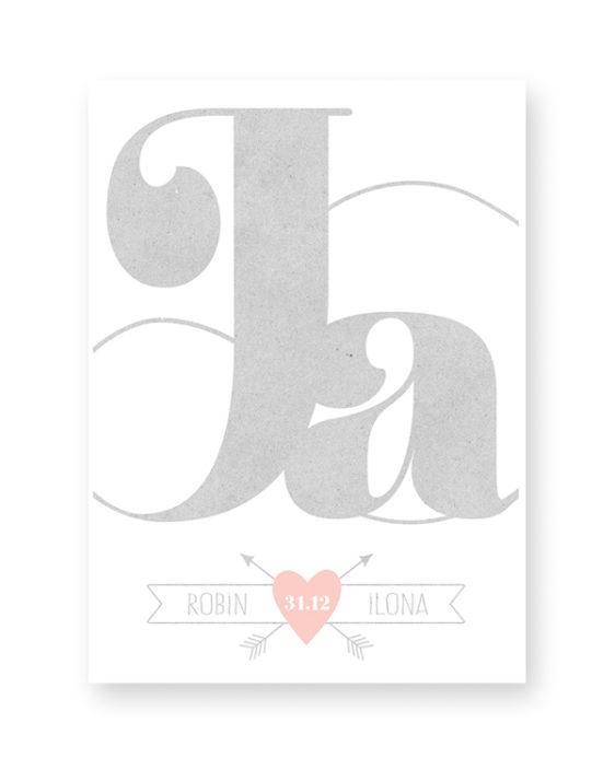 Gepersonaliseerde Trouwposter met namen en trouwdatum. Grijze Poster met kleur-accent. Zelf online poster maken bij Printcandy