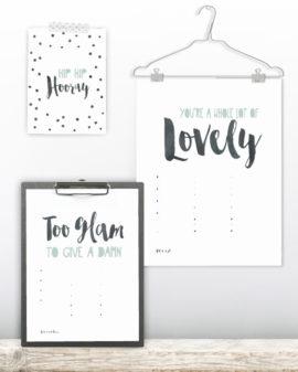 Verjaardagskalender Quotes - Verjaardagskalender maken! - zwart-wit of met kleur - A3 en A4 formaat - Printcandy