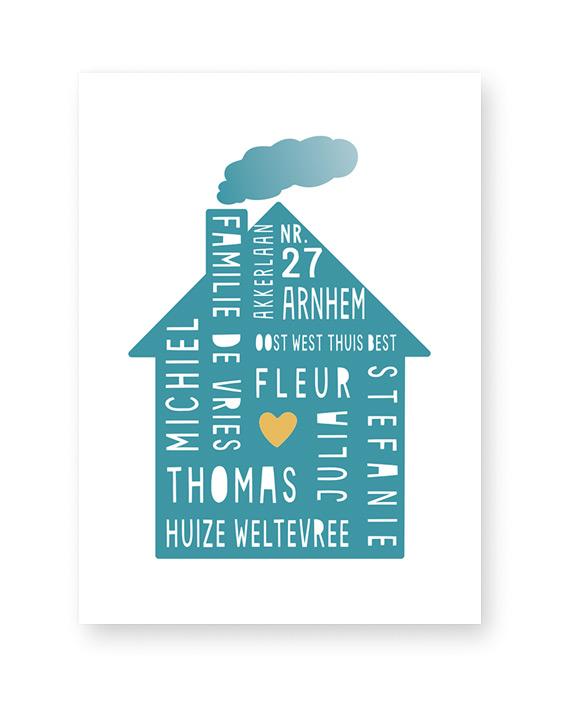 Home Sweet Home Poster - Gepersonaliseerde poster met eigen tekst zelf maken bij Printcandy
