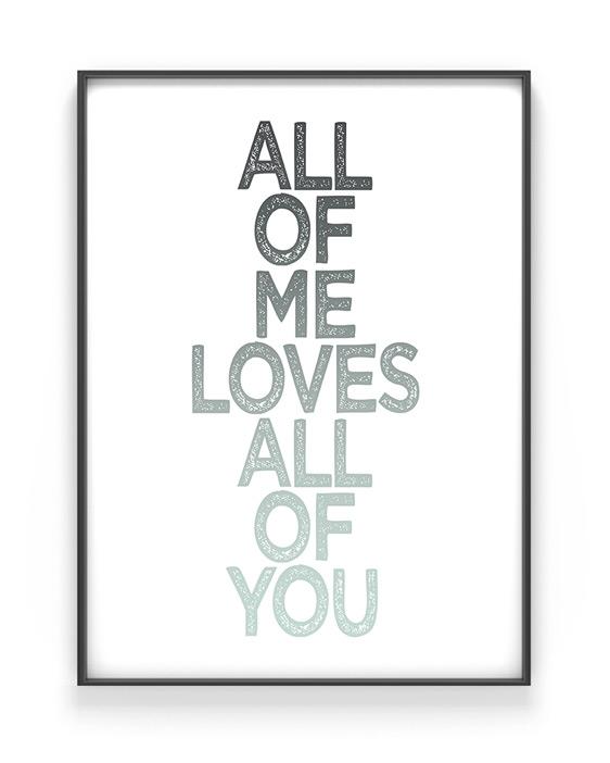 'Eigen' Quote Poster - Online zelf tekst posters maken in zwart wit of met kleur -accent (o.a mint en grijs)