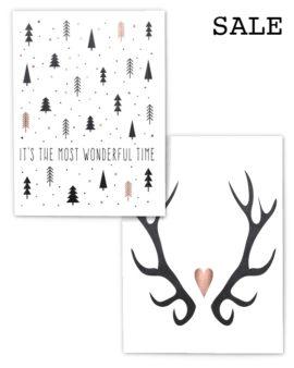 Kerst Prints A4 - 2 Kerst Posters voor € 9,50 - Printcandy Korting - Sale