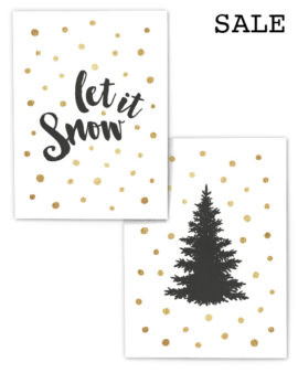 Kerst Poster Set - 2 Kerst Posters voor € 14,50 - Printcandy Korting - Sale
