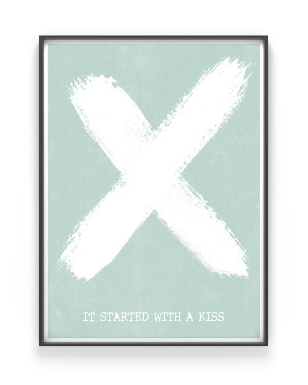 Kruis Poster X met eigen tekst - Printcandy