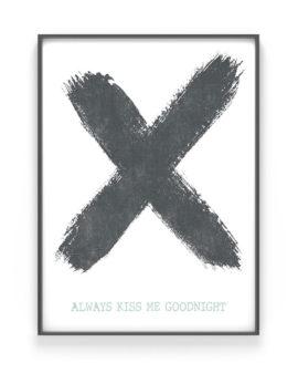 Kruis Poster X met eigen tekst | Printcandy