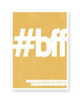 Woord Poster - vriendschap - met eigen tekst maken bij Printcandy.