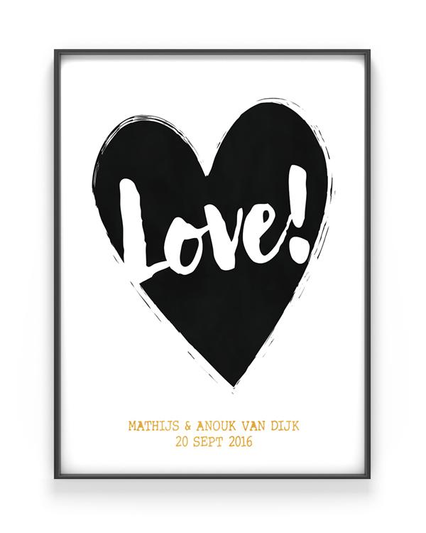 Valentijnscadeau - poster met eigen tekst