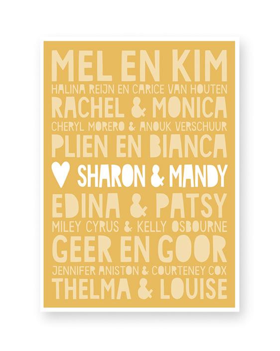 Gepersonaliseerde Poster Vriendin ++ Famous BFF's ++ Origineel cadeau voor Beste Vriendin