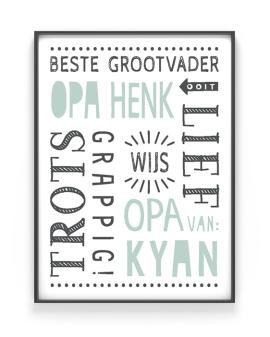 Poster Opa en Oma - gepersonaliseerd cadeau vaderdag - Printcandy