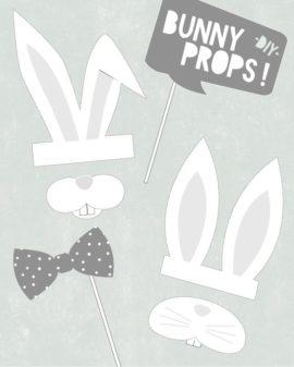 Photo Bunny Props - Free Printables
