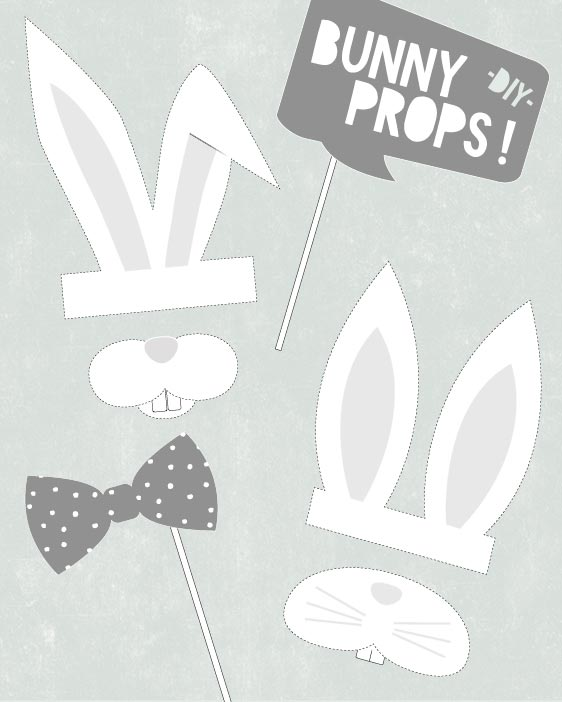 Photo Bunny Props - Free Printables
