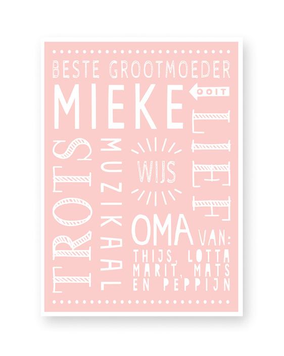 Poster Opa en Oma - gepersonaliseerd - Printcandy