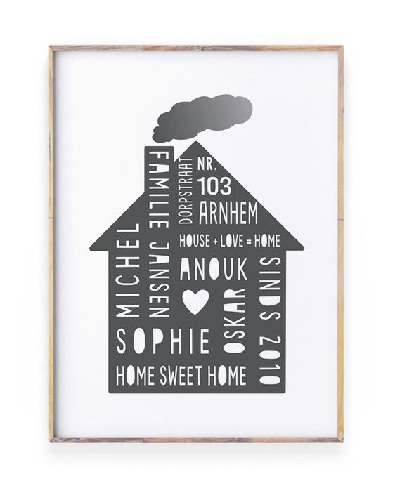 Top 10 Mooiste Moederdag Cadeaus - Gepersonaliseerde Home-Sweet-Home Familie Poster