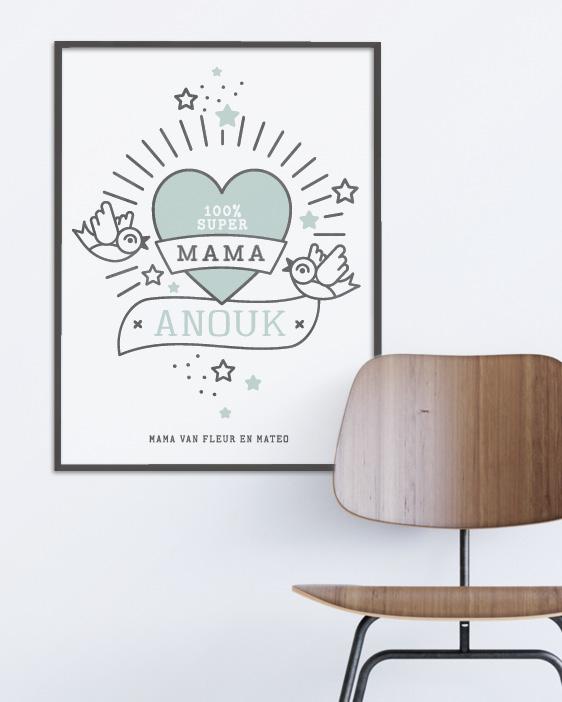 Gepersonaliseerde poster voor moederdag | Printcandy