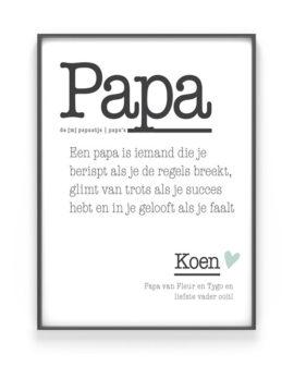 Poster Woord Definitie - Woordenboek poster - Mama met eigen tekst, Printcandy