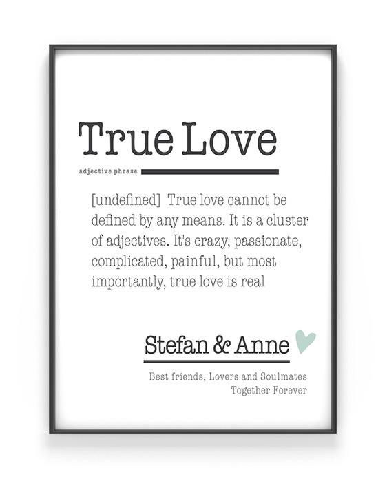 Woordenboek Love Poster met eigen woord en tekst