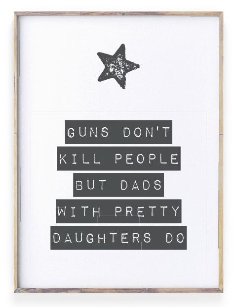 teksten voor papa -tekst poster zwart wit met eigen tekst