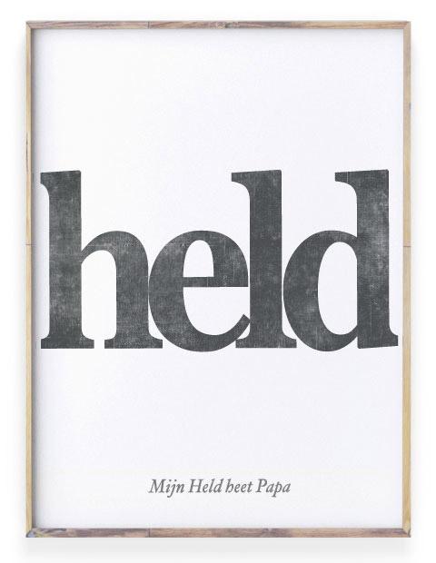 Teksten voor Papa - Held Poster met eigen tekst