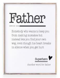 Teksten voor Papa - Woordenboek Poster zelf maken - Printcandy