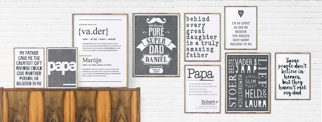 Posters voor Papa - Gepersonaliseerde Poster Vaderdag maken