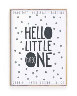 Geboorteposter Stippen - Confetti Poster voor Babykamer met naam