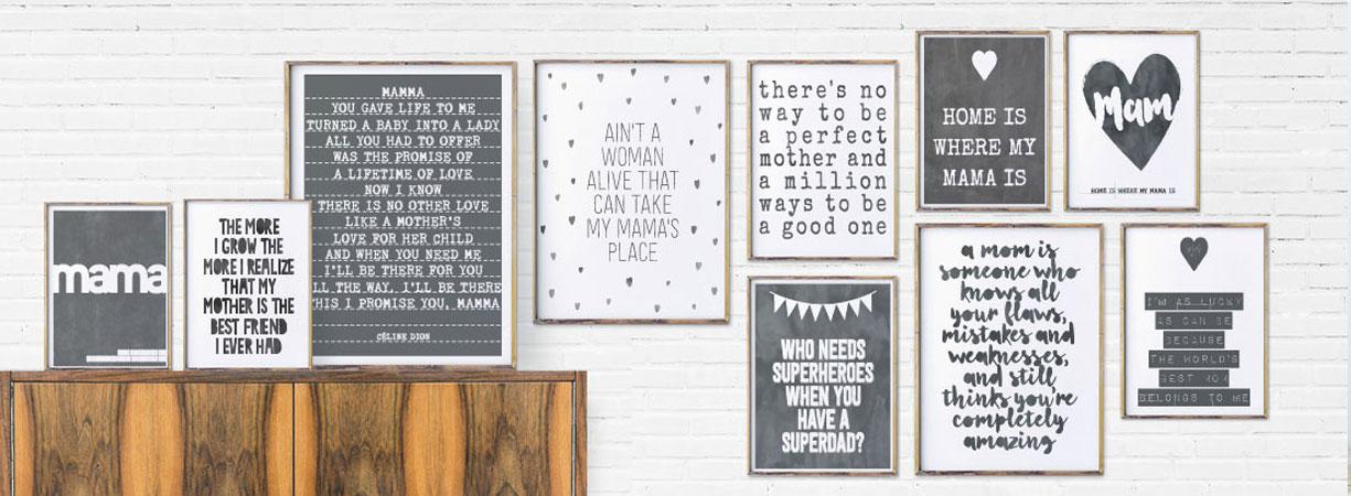 Lieve teksten voor Moederdag | Posters met eigen tekst maken voor Mama | Printcandy
