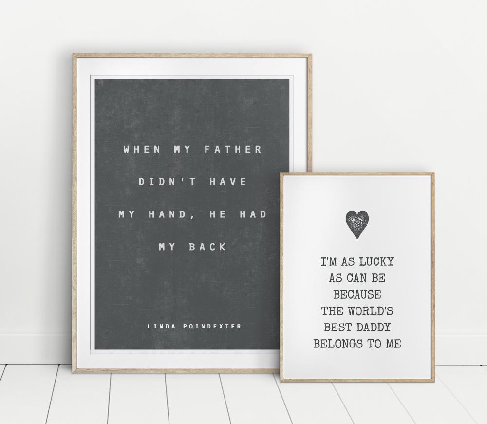 Vaderdag Posters voor papa met eigen teksten - Printcandy