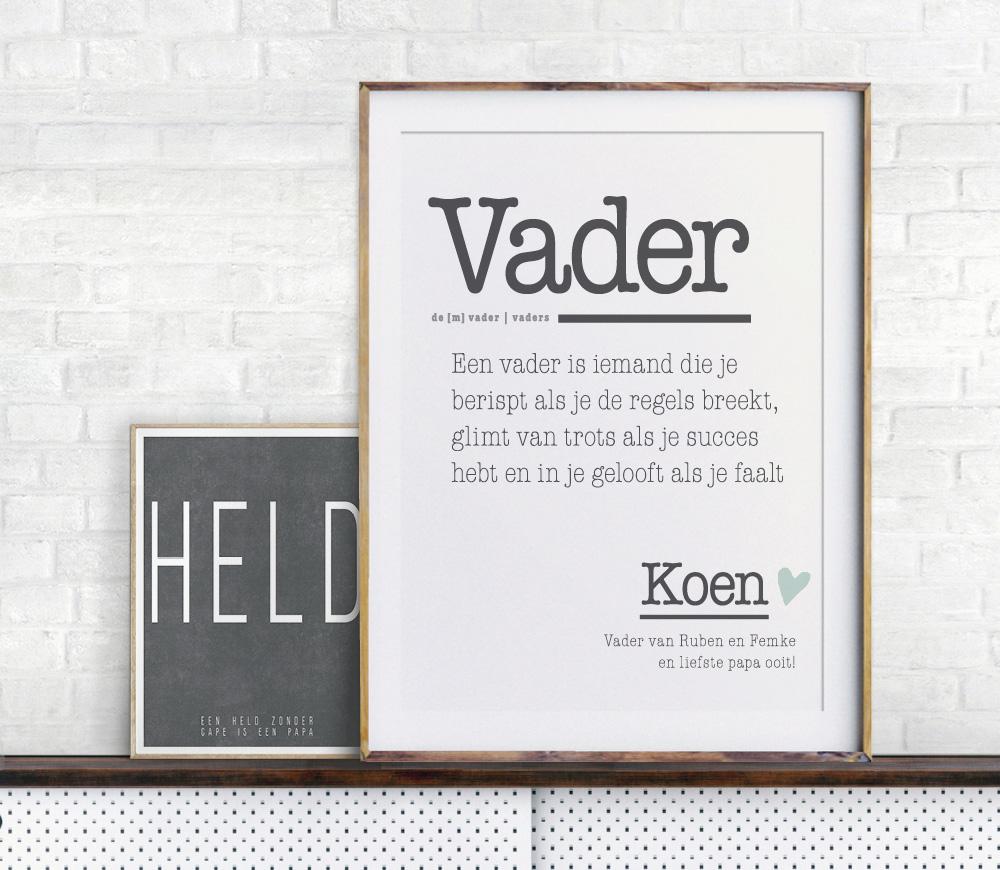 Woordenboek Poster voor Papa en vaderdag
