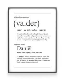 Woordenboek Poster Vader voor papa | Printcandy