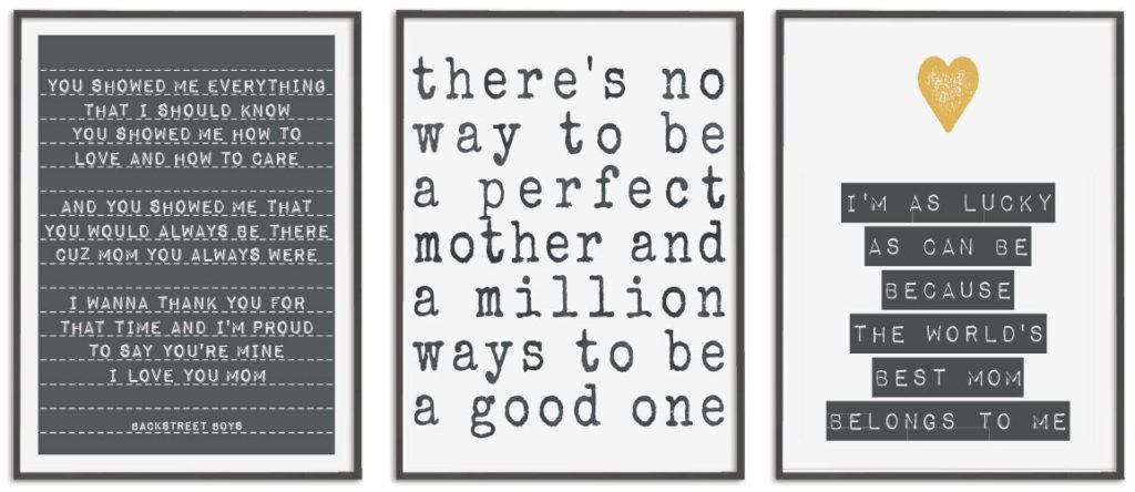zwart-wit Posters met lieve teksten voor moederdag zelf online maken