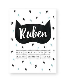 Poster Batman kinderkamer - zwart wit met kleur-accent