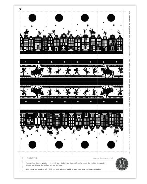 Sint Printable Labels - Gratis sinterklaas printables van Printcandy