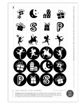 Sint Printable Toppers - Gratis sinterklaas printables van Printcandy