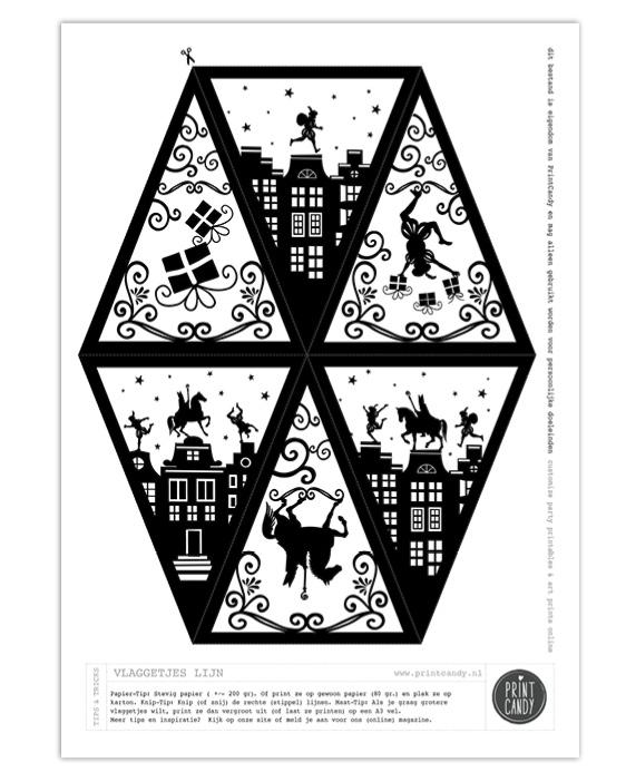 Wachten Op Sinterklaas Kleurplaat Sint Printable Vlaggetjes Gratis Printables Van Printcandy